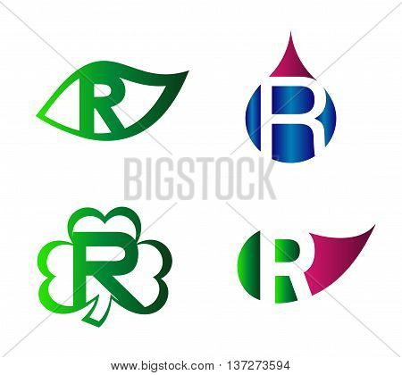 Letter R Logo vector alphabet design element template