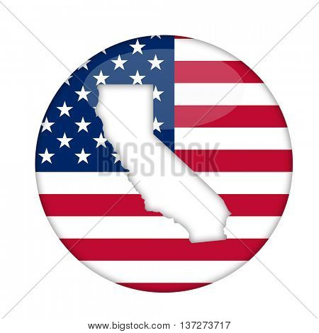 California state of America badge isolated on a white background.