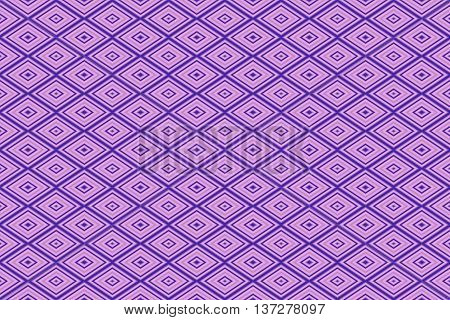 Illustration of repetitive pink and purple rhombuses