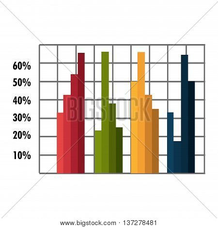 Growth statistics with graphics isolated icon, vector illustration design.