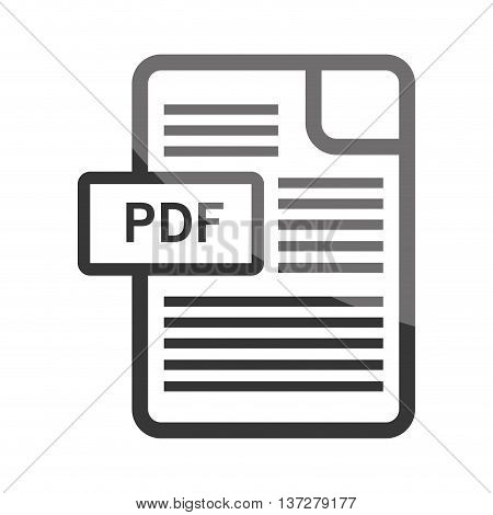Download ebook in pdf format symbol, vector illustration isolated icon.