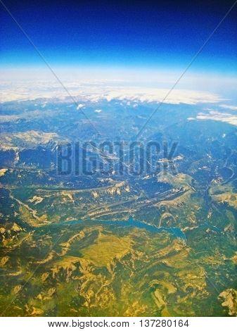 Lake Lac De Castillon - Aerial View
