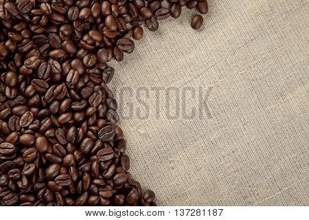 Close Up Coffee Beans  Background Studio Shot