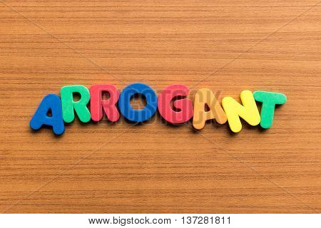 Arrogant Colorful Word