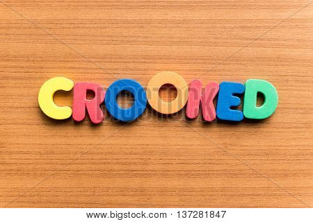 Crooked Colorful Word