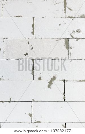 AAC brick in construction phase for wall panel