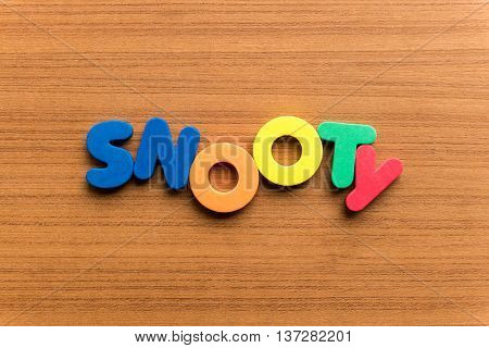 Snooty Colorful Word