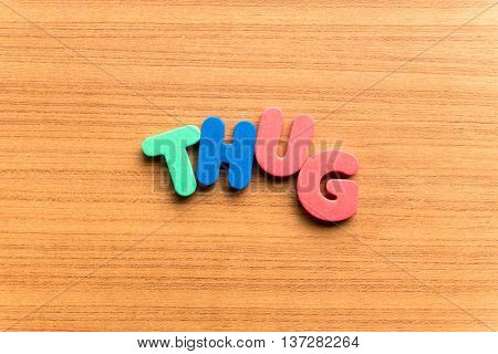 Thug Colorful Word