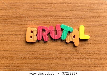 Brutal Colorful Word