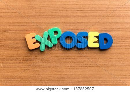 Exposed Colorful Word