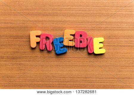 Freebie Colorful Word