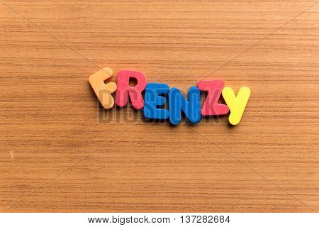 Frenzy Colorful Word