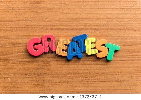 Greatest Colorful Word