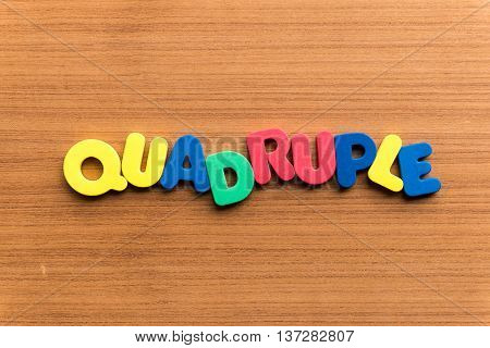 Quadruple Colorful Word
