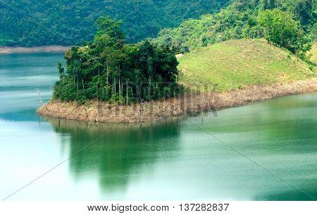 Lake in the mountains, highlands Dalat, Lam Dong, Vietnam