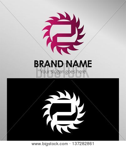 Abstract icons for number 2 logo template design vector
