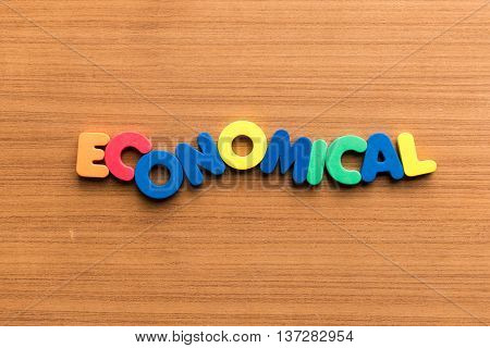 Economical Colorful Word