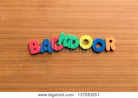 Backdoor Colorful Word Colorful Word