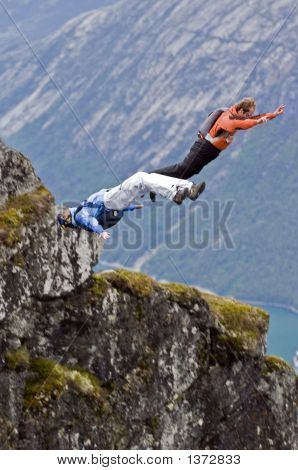 BASE jumping in Norwegen