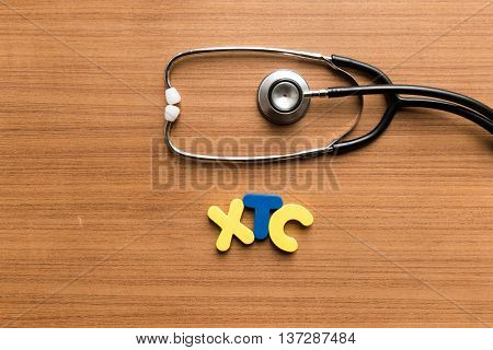 Xtc Colorful Word With Stethoscope