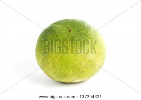 green lime isolated on the white background