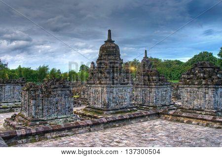 Prambanan temple. Yogyakarta at island Java Indonesia