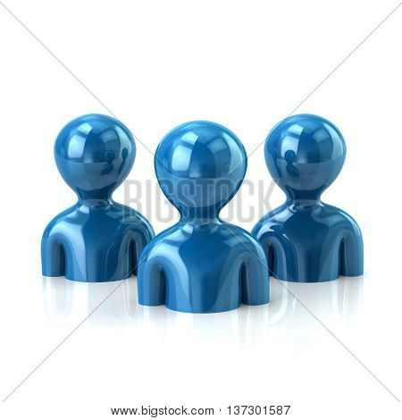 Group Of Blue People
