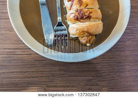 Waffle And Hotdog At Street Food