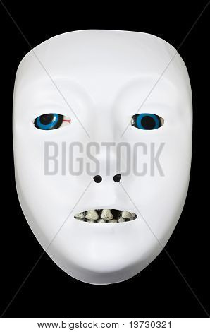 White Drama Mask With Eyes