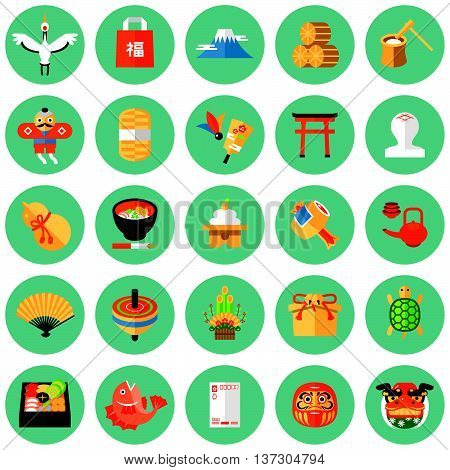 Flat design icon for the Japanese New Year.