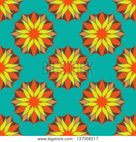 Vector Seamless Color Floral Mandala Pattern. Seamless pattern for your designs, invitation card, yoga, meditation, astrology, fabric and other wrapped projects. Mandala Pattern in swatches panel.