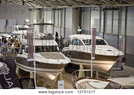New Jeanneau Prestige Boats At Big Blue Sea Expo, Rome, 2011