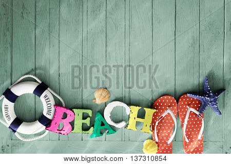 Beach Sign Welcome Aboard Concept