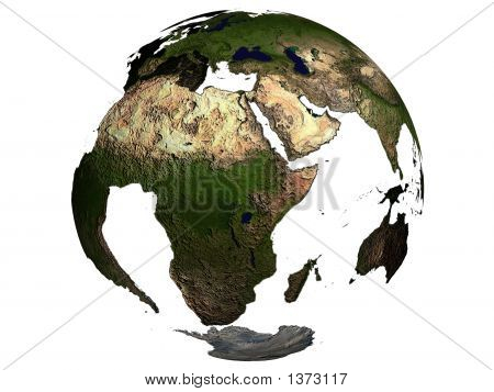 Africa On An Earth Globe