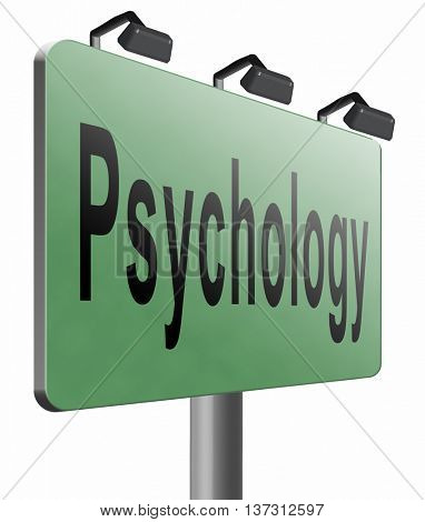 psychology psycho therapy for mental health against depression trauma, phobia schizophrenia 3D illustration, isolated, on white