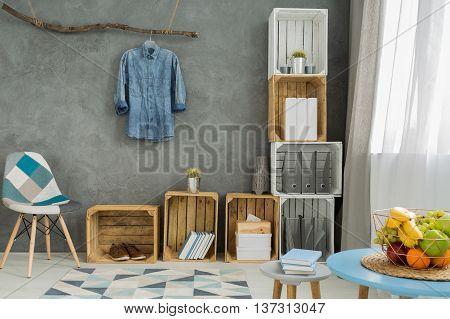 Stylish Flat With Diy Storage Solutions