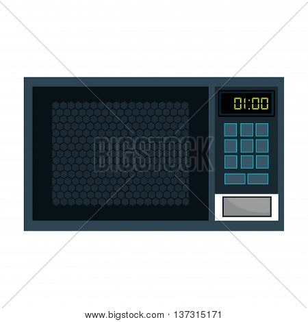 Home kitchen microwave appliance, isolated icon graphic design.