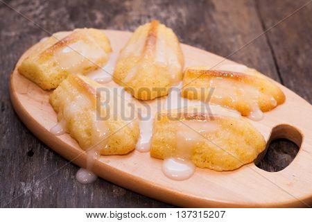 Cakes Madeleine Poured Sugar Fondant