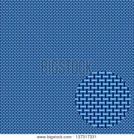 seamless pattern fabric texture, weave, blue vector background