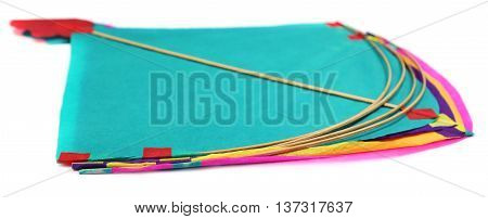 Traditional Bangladeshi kites made of thin papers over white background