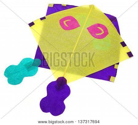 Traditional Bangladeshi kites made of thin papers