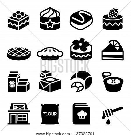 bakery shop icon set vector illustration graphic design
