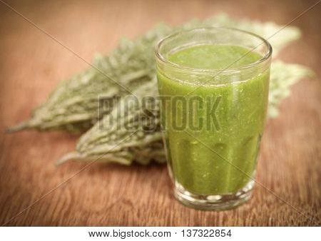Herbal juice of green momodica with green vegetable