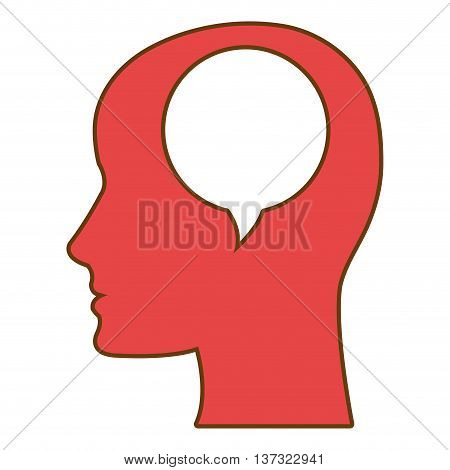 Human mind thinking isolated icon, vector illustration graphic.