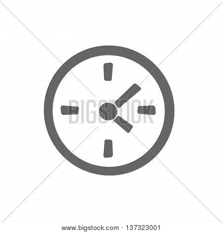 simple clock icon. Stock vector illustration. Time symbol