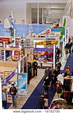 Different Stands At Big Blue Sea Expo, Rome, 2011