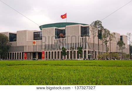HA NOI, VIET NAM, May 23, 2016 Parliament Vietnam, ear downtown, Ha Noi, Vietnam