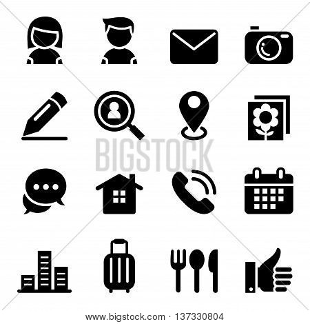 Contact icon set vector illustration graphic design