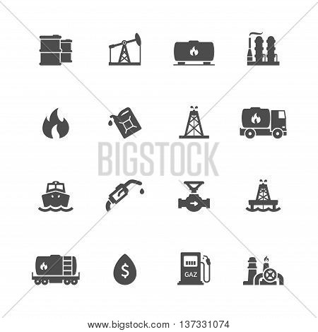 industry factory power and fuel icon black