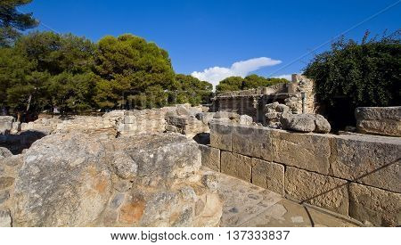 Labyrinth of the Minotaur - the Palace of Knossos. Fragment. Crete Greece.